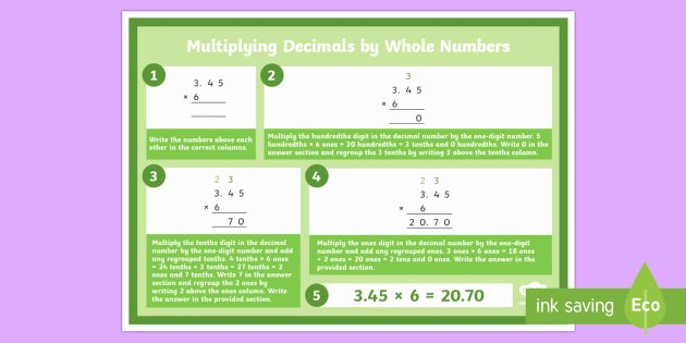 Multiplication Strategies Posters Y6 Multiplying Decimals by whole Numbers Display Poster