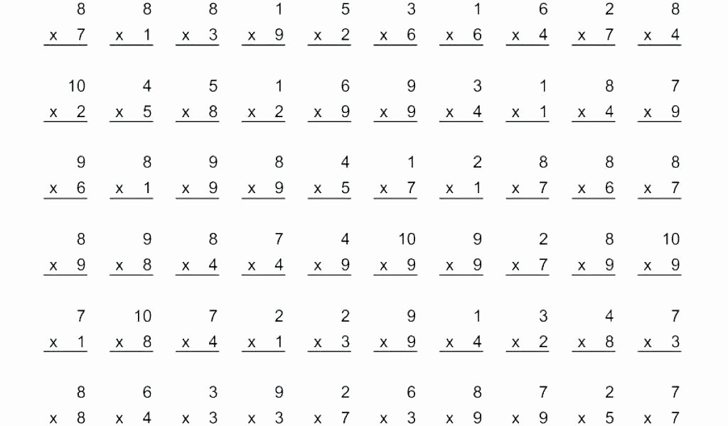 Multiplication Worksheets 0 12 Printable Free Printable Multiplication Worksheets Facts Super Teacher