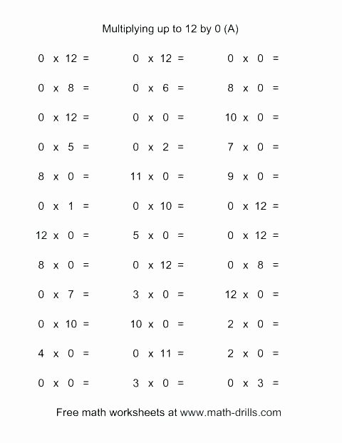 Multiplication Worksheets 0 12 Printable Free Worksheets Library Download and Print Printable