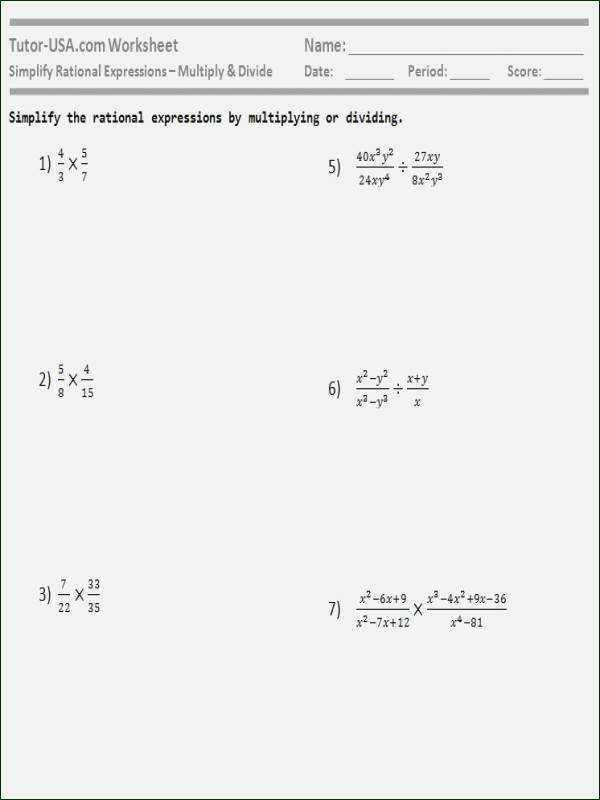 Multiplying and Dividing Fractions Kuta Kuta software Infinite Algebra 2 Simplifying Rational
