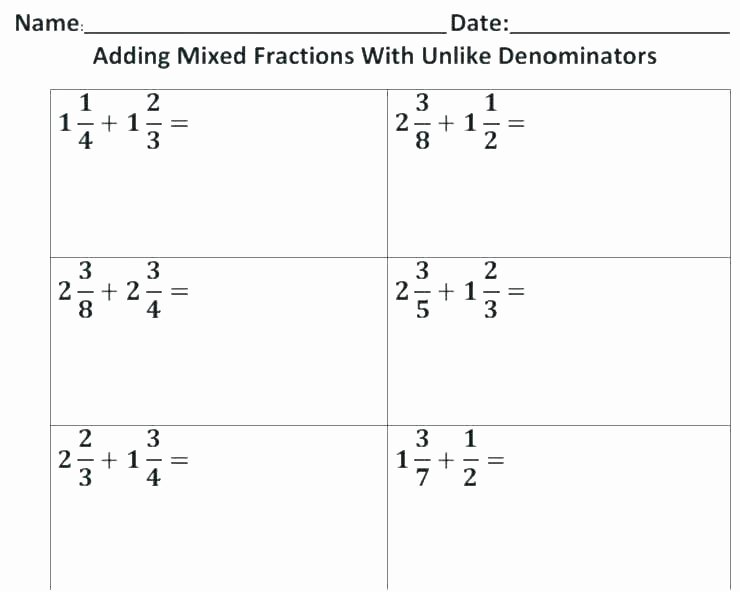 Multiplying and Dividing Fractions Kuta Multiplying Fractions with Different Denominators Worksheet