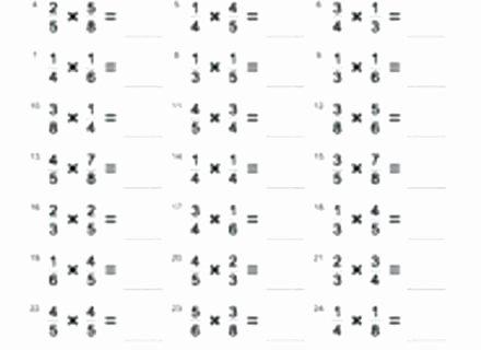 Multiplying Fractions Worksheet 6th Grade Multiplying Fractions Worksheet Grade Clinic Multiply and