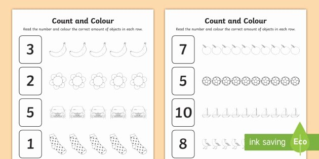 Music Counting Worksheets Count and Colour Worksheet Worksheet Worksheet