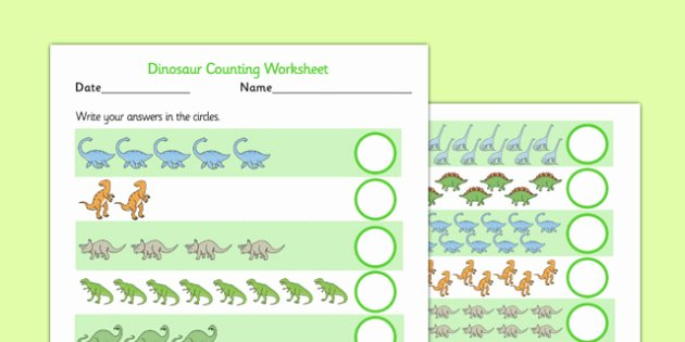 Music Counting Worksheets Dinosaur Counting Worksheet Up to 20 Dinosaur 1 1 One to