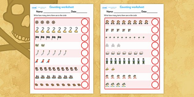 Music Counting Worksheets Free My Counting Worksheet Pirates Counting Worksheet