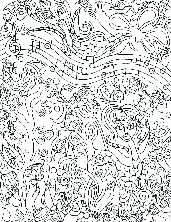 Music theory Coloring Pages Coloring with Music – Coactions