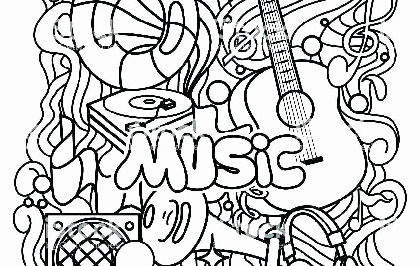 Music theory Coloring Pages Music Coloring Pages – Its Tech
