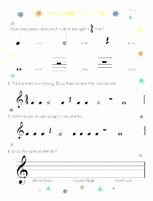 Music theory Worksheet for Kids Music theory Grade 1 Worksheets