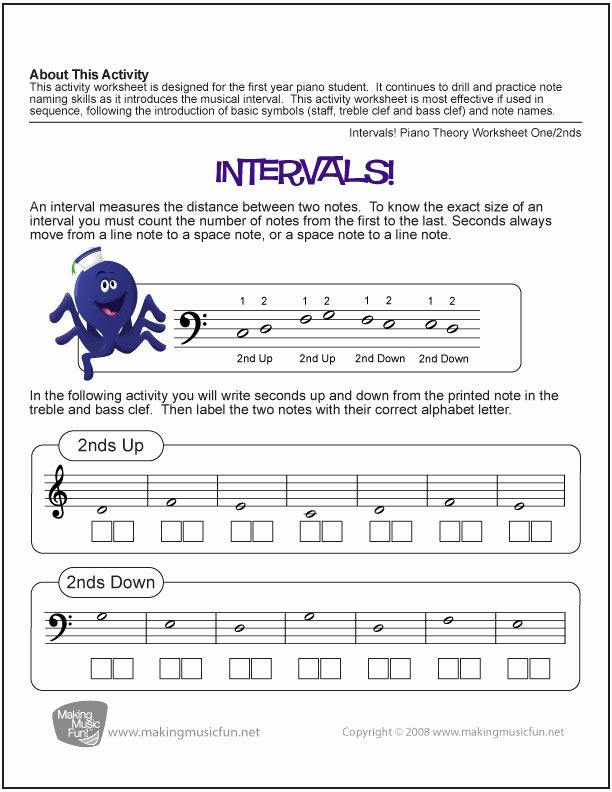 Music theory Worksheet for Kids Music theory Worksheets and More
