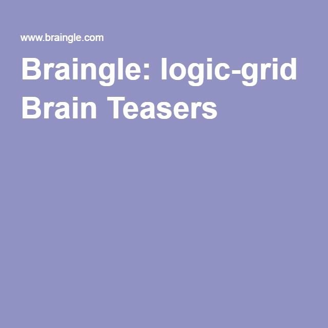 Mystery Grid Pictures Fresh Braingle Logic Grid Brain Teasers for Kids