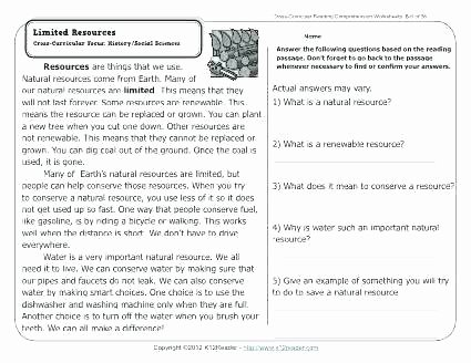 Natural Resources Worksheets Pdf Lovely Year 5 Prehension Worksheets Prehension Worksheets for