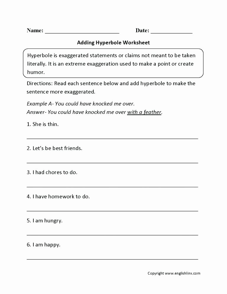 Non Literal Language Worksheets Figurative Language Worksheets Grade Worksheet Valid Free 5 La