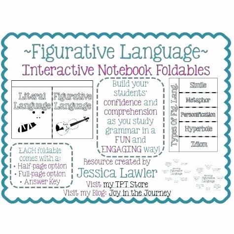 Non Literal Language Worksheets Literal Vs Nonliteral Language Worksheets