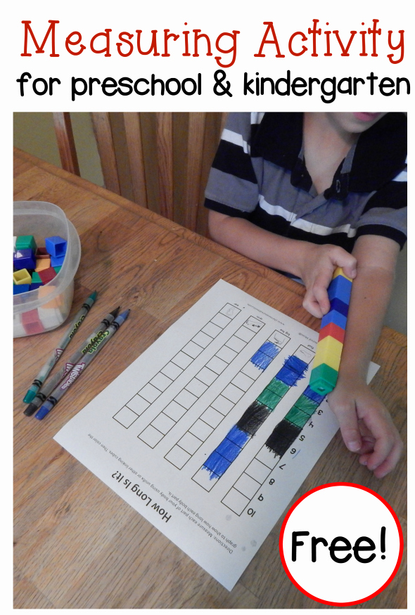 Nonstandard Measurement Worksheets Free Human Body Worksheet for Kids