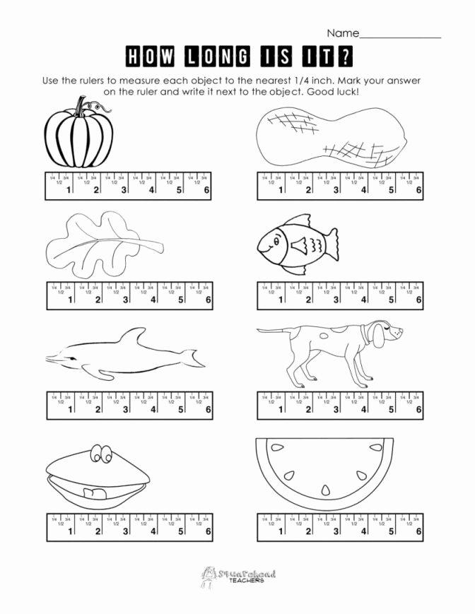 Nonstandard Measurement Worksheets Math Measurement Worksheets Length for Kindergarten