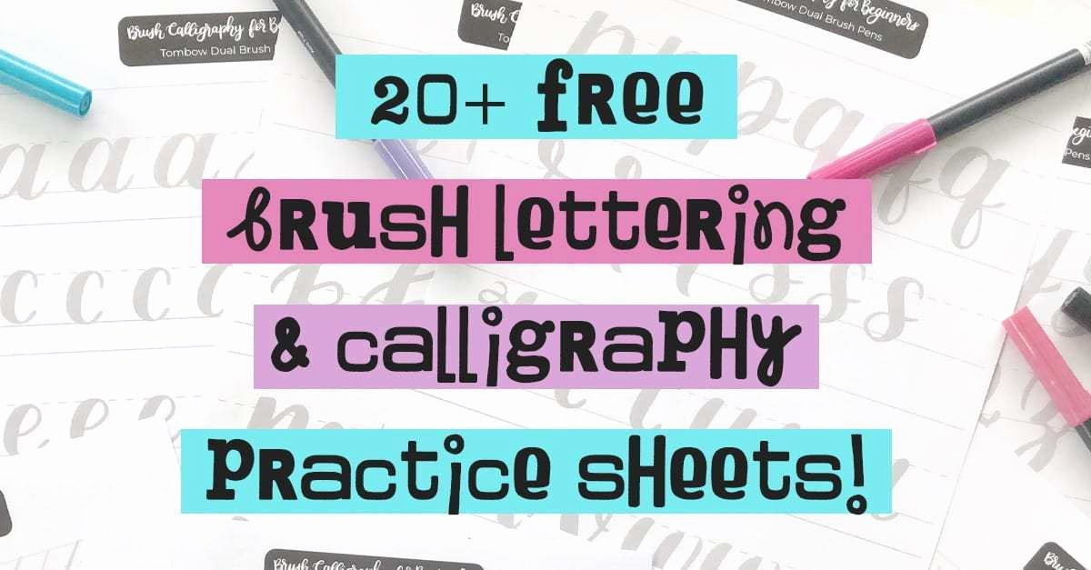 Note Taking Practice Worksheets Lovely 20 Free Brush Lettering Practice Sheets