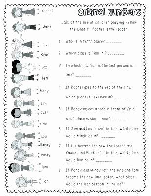 Number 2 Worksheets for Preschool Worksheets ordinal Numbers – Petpage