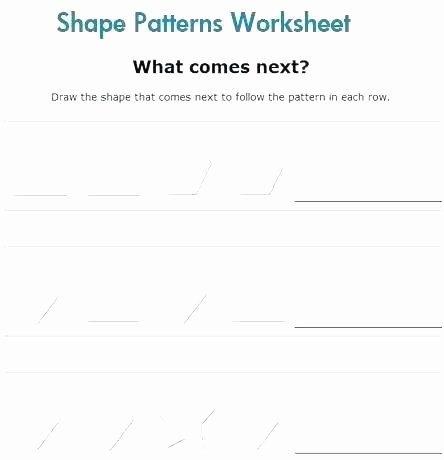 Number Pattern Worksheets 5th Grade Shapes and Patterns Worksheets – Redoakdeer