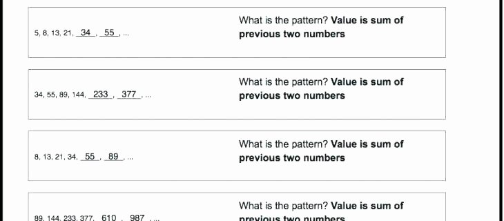 Number Patterns Worksheets Grade 6 4th Grade Math Patterns Worksheets – Redoakdeer