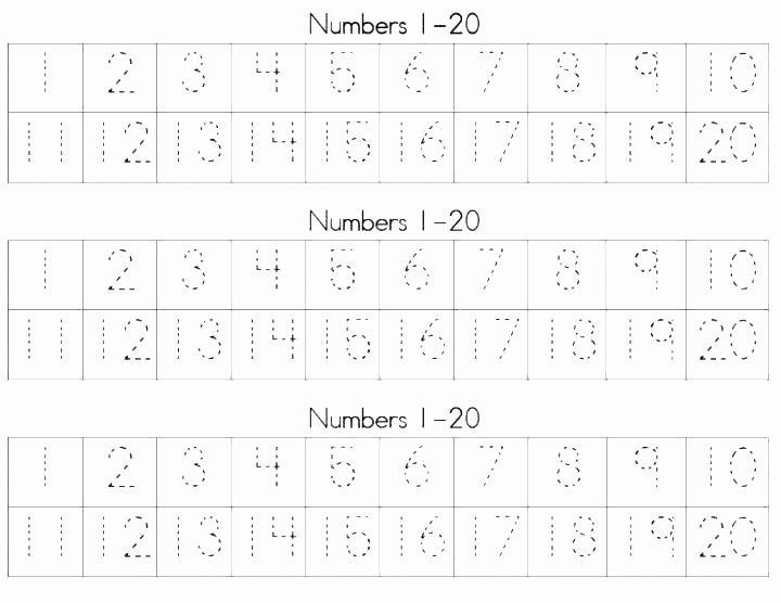 Number Recognition Worksheets 1 20 Learning Numbers 1 20 Worksheets