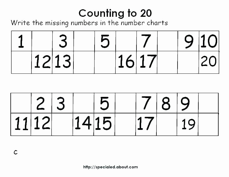 Number Recognition Worksheets 1 20 Number 1 10 Worksheets – Akasharyans