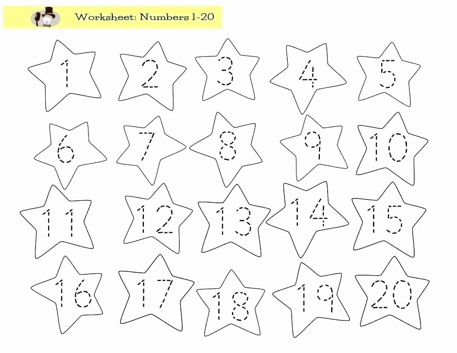 Number Recognition Worksheets 1 20 Preschool Number Tracing Worksheets