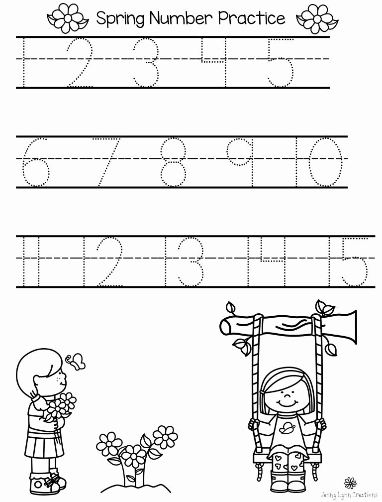 Number Tracing 1 20 Spring Math & Literacy Packet