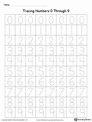 Number Tracing Worksheet 1 10 1 10 Tracing Worksheets