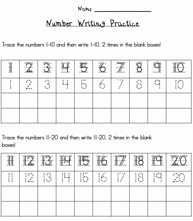 Number Tracing Worksheet 1 10 Free Number Worksheets Trace Numbers 1 Printable Tracing