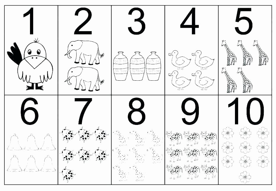 Number Tracing Worksheet 1 10 Number 1 Worksheets for Preschool