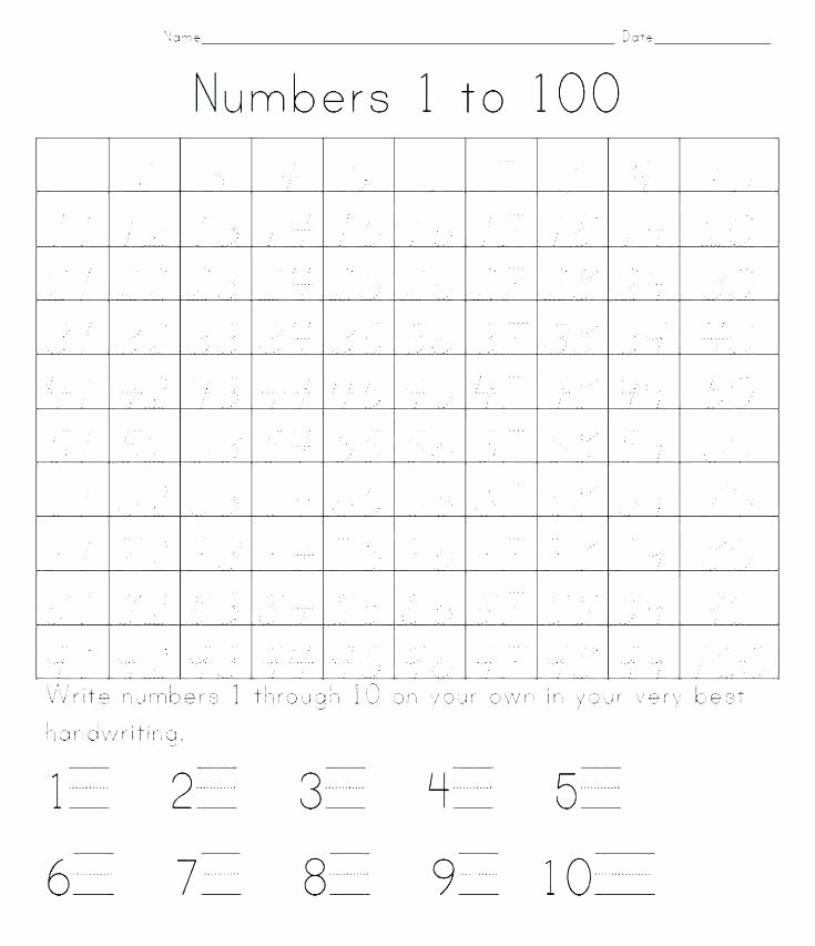 Number Tracing Worksheet 1 10 Number Tracing Worksheets Preschool Handwriting Free