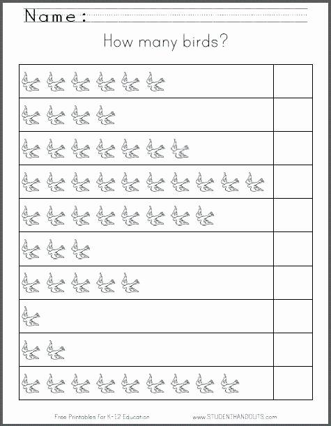 Number Tracing Worksheets for Kindergarten Kindergarten Worksheets Numbers 1 10