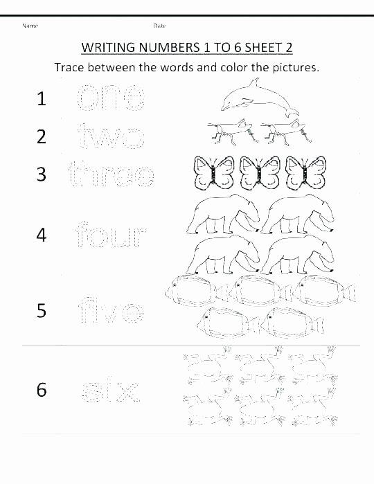 Number Tracing Worksheets for Kindergarten Printable Number Tracing Worksheets