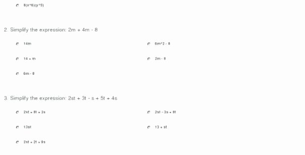 Numerical Expressions Worksheets solving Algebraic Expressions Worksheets