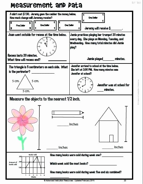 Nwea Test Prep Worksheets Grade Math Test Prep Daily Math Grade and Test Prep Best