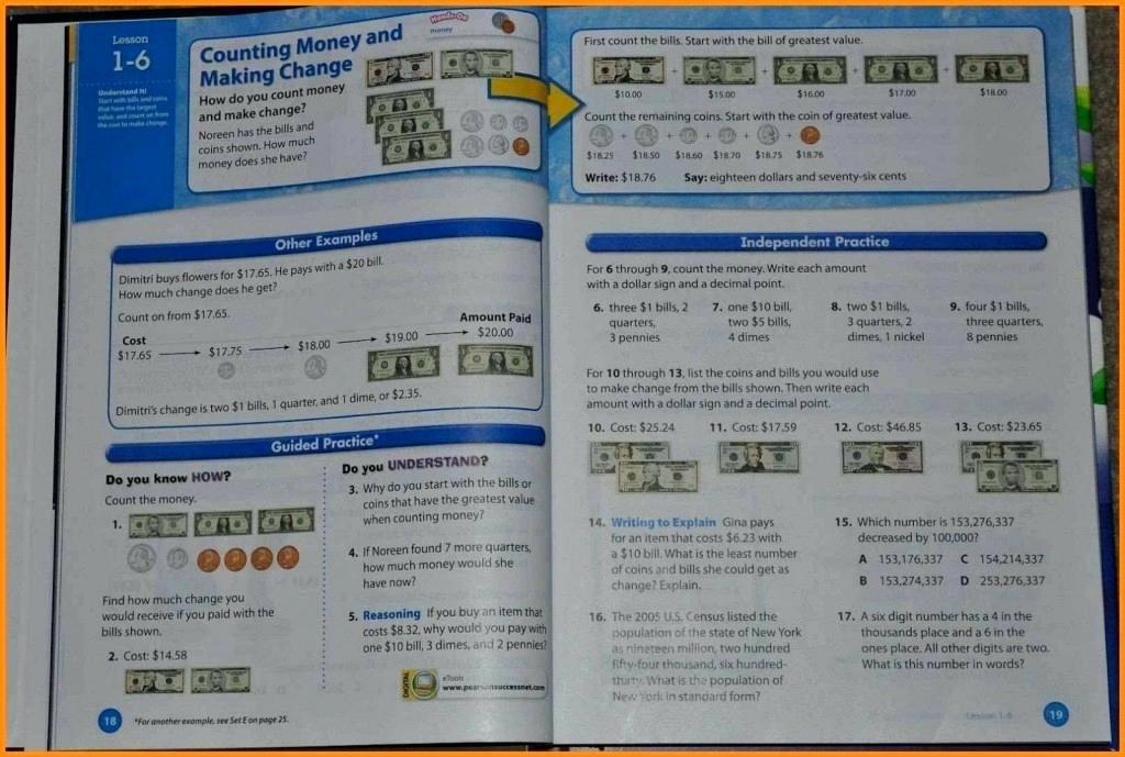 Ocean Floor Worksheets 5th Grade Pearson Education Math Worksheets