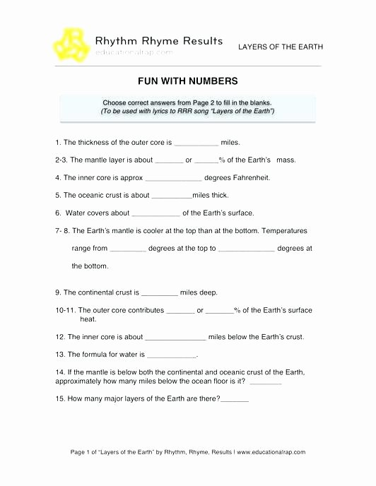 Ocean Floor Worksheets 5th Grade Printable Science Worksheets for First Grade solids