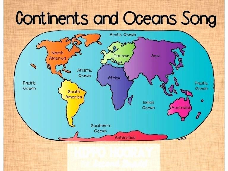 Ocean Worksheets for 2nd Grade Continents and Oceans Worksheet Picture the Reference Grade