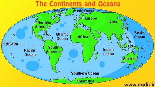 Oceans and Continents Worksheets Printable Blank Map Continents and Oceans New World Map with