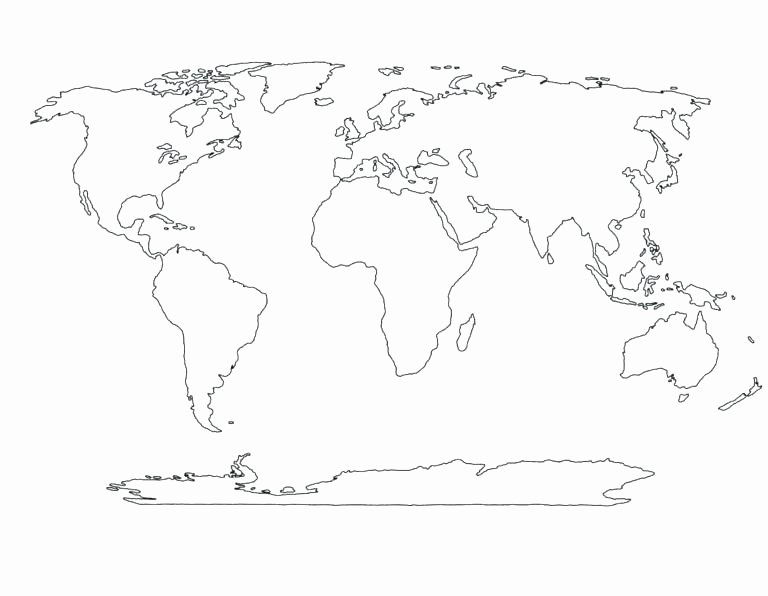 Oceans and Continents Worksheets Printable Blank World Map for Kids – Fashionvitamins