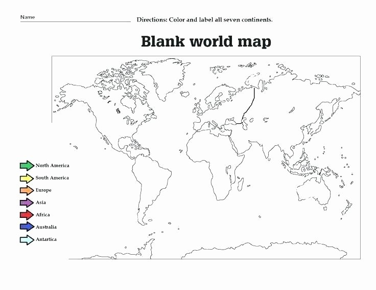 Oceans and Continents Worksheets Printable Continents Coloring Page – Artist360