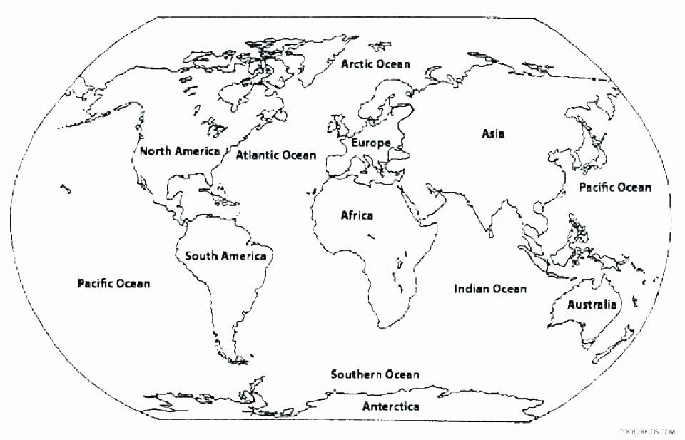 Oceans Worksheets for Kindergarten Continents Printable – Nannydogfo