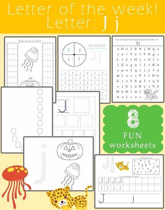 Oi and Oy Worksheets Letter Of the Week Letter J Reading Writing
