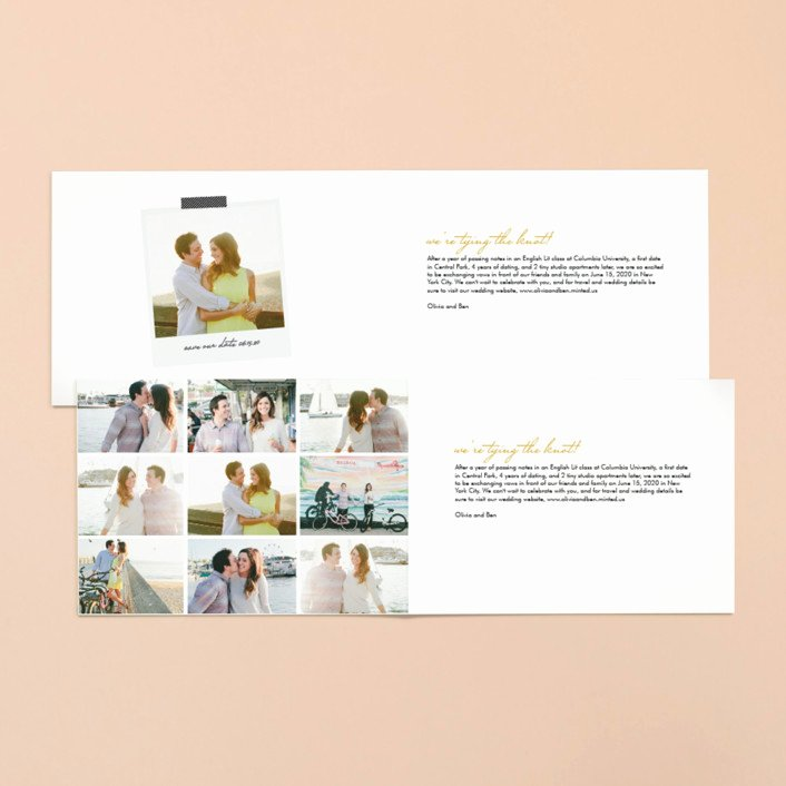 """Oi and Oy Worksheets """"gilded Landscapes"""" Customizable Save the Date Cards In Gold by Ellis"""
