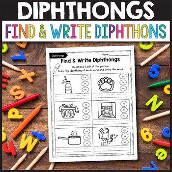 Oi Oy Worksheet Diphthong Worksheets