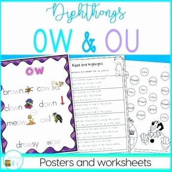 Oi Oy Worksheet Diphthong Worksheets Vowel Digraphs and Diphthongs Oi