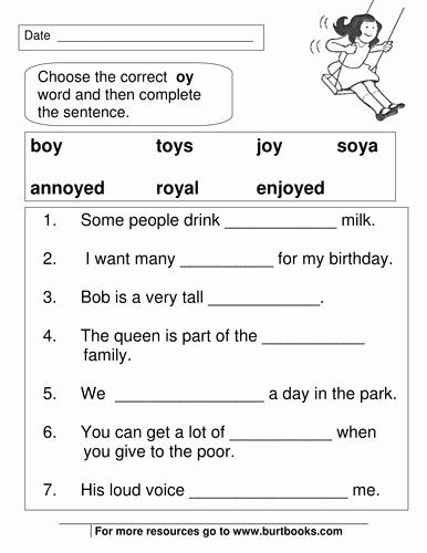 Oi Oy Worksheet Ee Phoneme Grapheme Worksheets