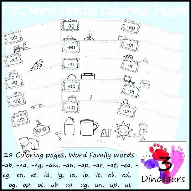 Op Word Family Worksheets Ag Word Family Worksheets