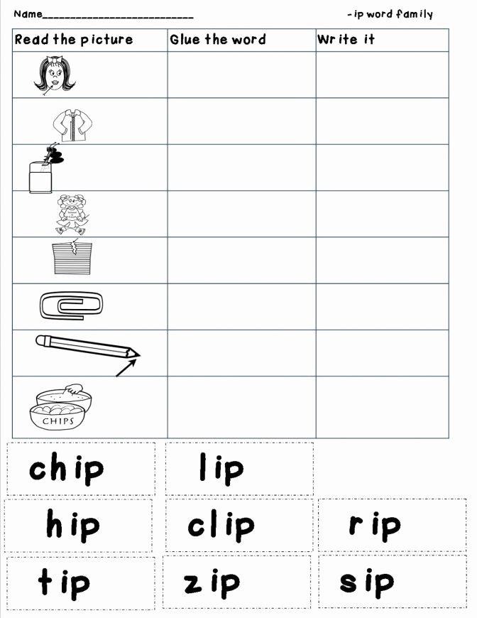 Op Word Family Worksheets Fresh Cvc Words Worksheet for Kindergarten Fun Ox Word