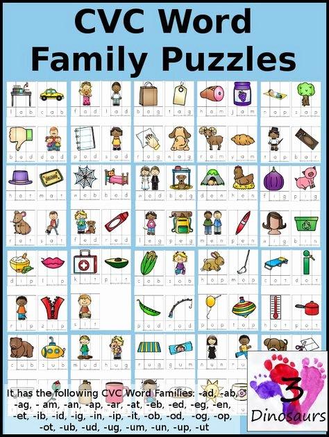 Op Word Family Worksheets Pinterest